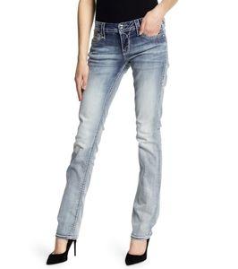 **Rock Revival Nancy Sz 36 Easy Straight Jeans